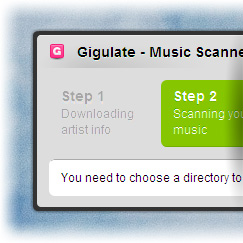 An image of the Music Scanner in action